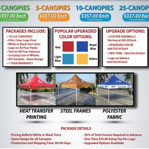 custom canopy design & pricing