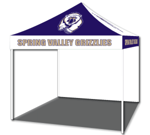 double side custom event tents