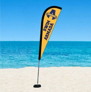 Promotional Flying Feather Banner Flags